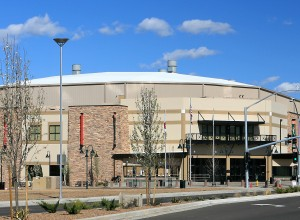 Exterior or the Prescott Valley Event Center viewed from street.